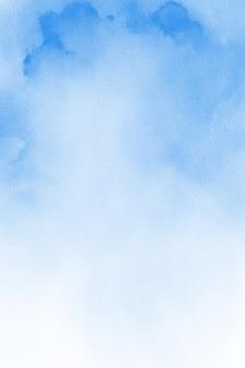 Pastelowe niebieskie tło akwarela
