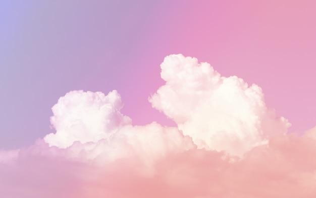 Pastelowe niebo piękne, romantyczne, marzycielskie