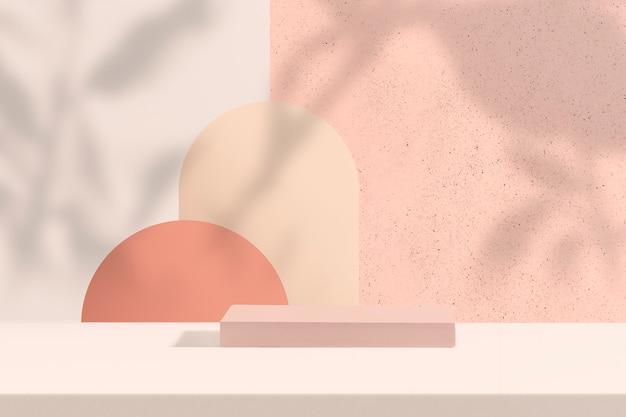Pastelowe tło produktu z przestrzenią projektową