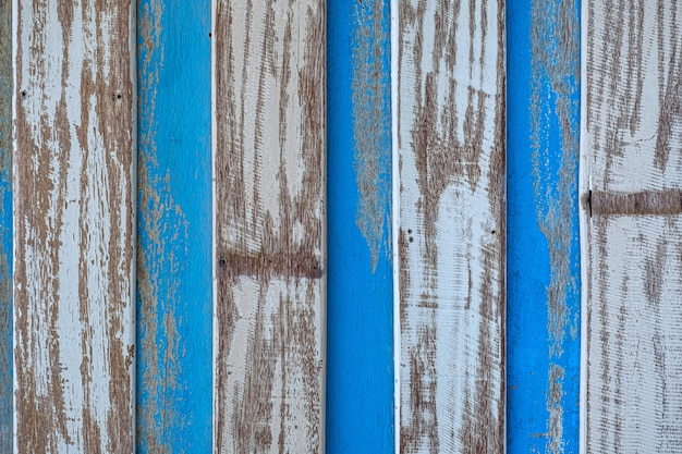 Pastelowy drewniany drewniany biały niebieski z deski tekstury ściany tłem