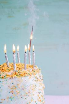 Pastelowy urodzinowy tort