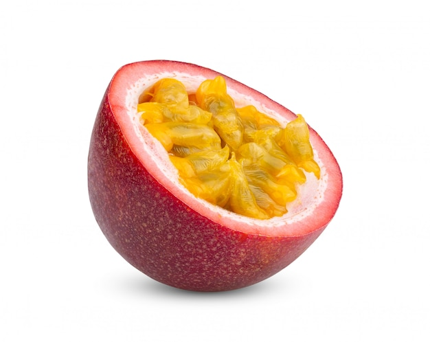 Pasyjna owoc odizolowywająca na bielu.