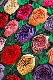 Patchwork kołdra z kwiatami