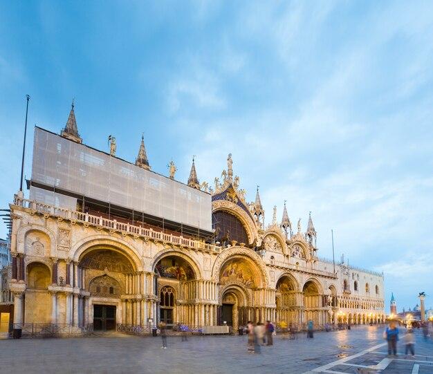 Patriarchalna bazylika katedralna świętego marka, piazza san marco, wenecja, włochy.