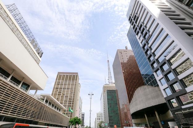 Paulista avenue, sao paulo, brazylia