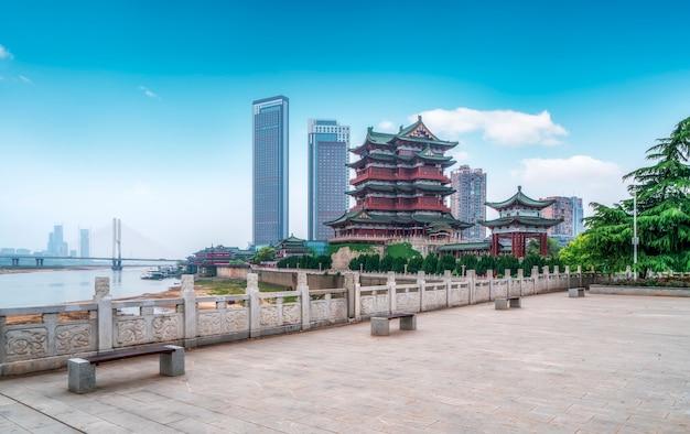 Pawilon tengwang, nanchang, tradycyjna, starożytna chińska architektura, wykonana z drewna.