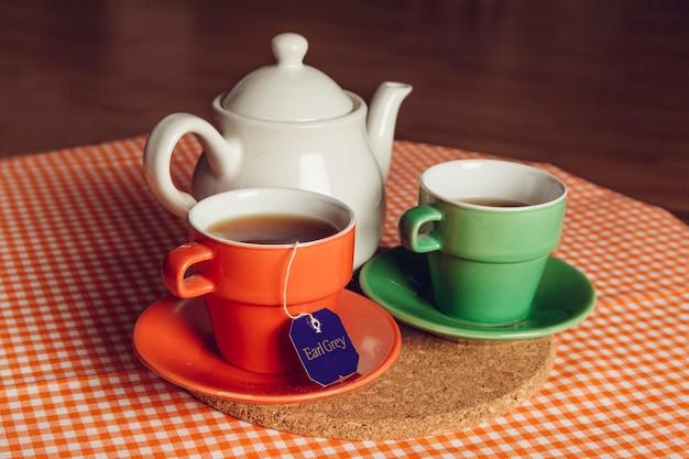 Peaceful dekoracji herbaty