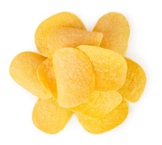 Pęczek chipsów na białym tle