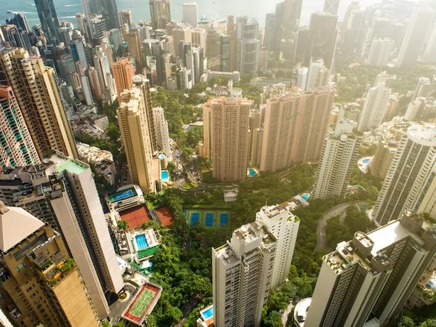 Pejzaż miasta hongkongu