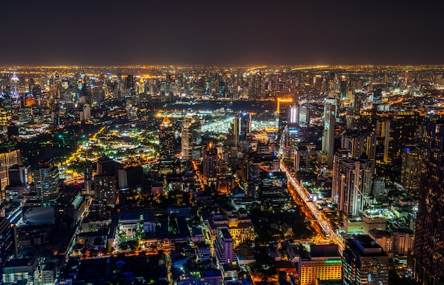 Pejzaż miejski i linia horyzontu bangkok miasto, tajlandia.
