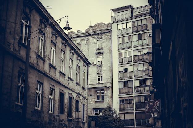 Pejzaż miejski starego belgradu. republika serbii