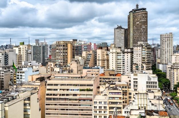 Pejzaż miejski w centrum san paolo w brazylii, ameryka południowa
