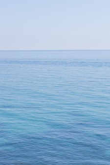 Pejzaż morski w pionie. jasne tło morza