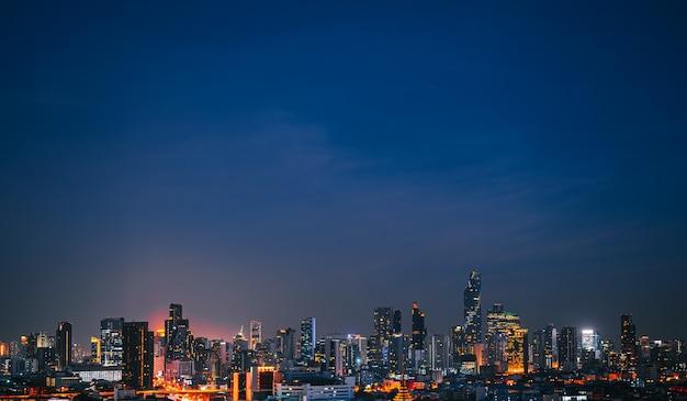 Pejzaż w środku bangkoku w tajlandii