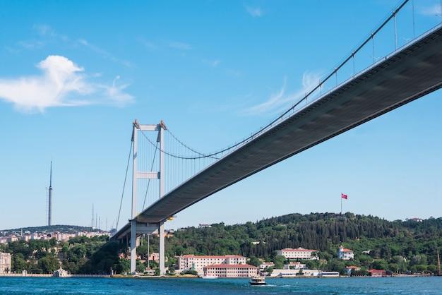 Pejzaż z stambułu, najbardziej zaludnione miasto w turcji