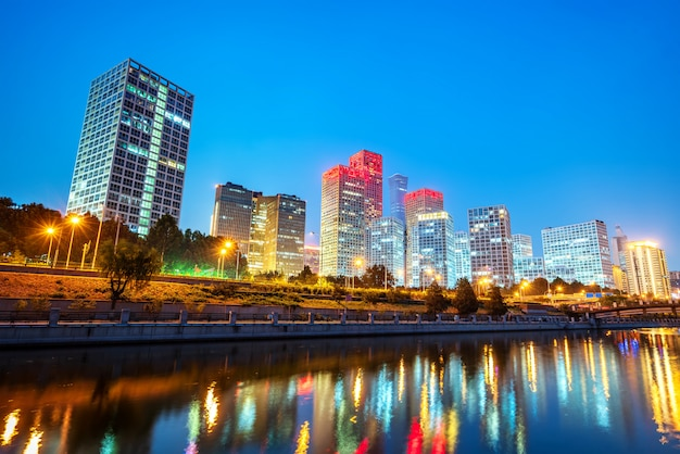 Pekin, chiny cbd panoramę miasta.