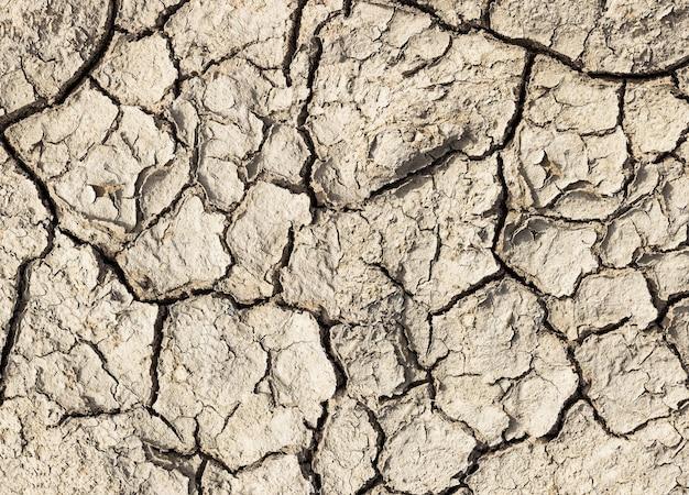Pęknięta gleba dla materiału tła i tekstury