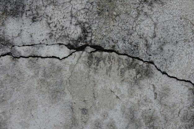 Pęknięty mur beton