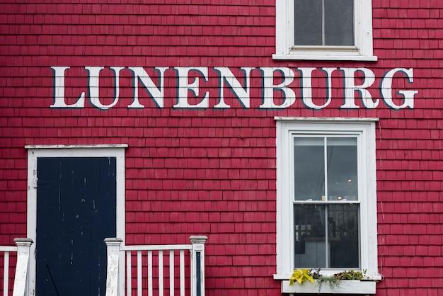 Pełna klatka strzał z domu, lunenburg, nowa szkocja, kanada