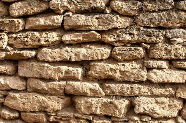 Pełna klatka zdjęcia kamiennej ściany