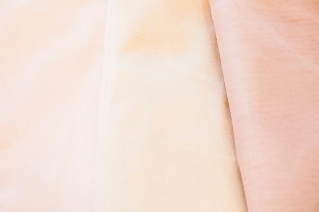 Pełna ramka widok gładkich tkanin