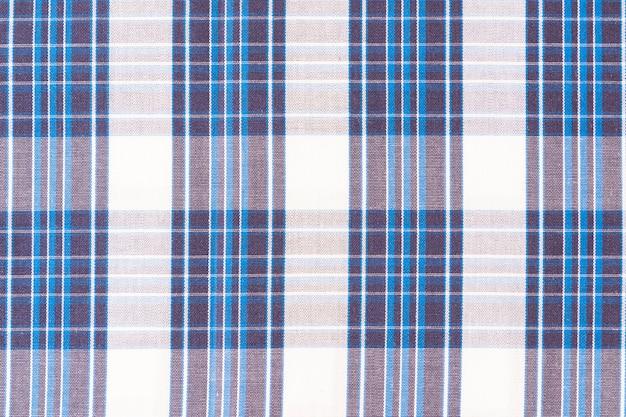 Pełna ramka wzór bezszwowe bawełniany materiał w kratkę
