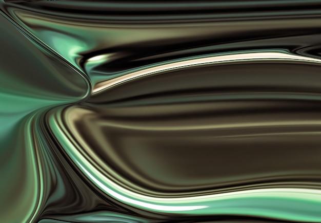 Pełny ekran abstrakcyjny chromowany metal jako obraz tła d