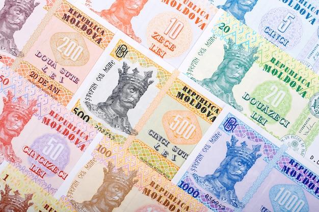 Pełny zestaw mołdawskich pieniędzy