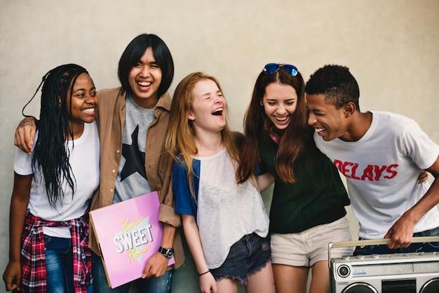 People friendship music radio entertainment togetherness