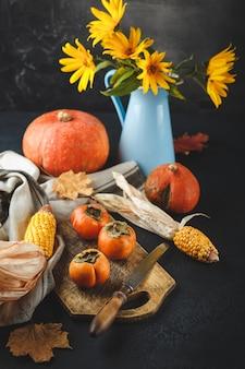 Persimmon, dynia, kukurydza