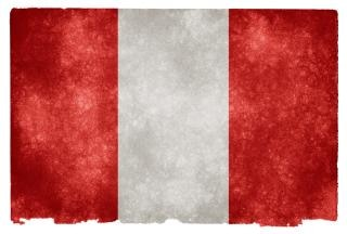 Peru grunge flag