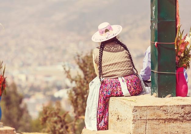 Peruwiańczycy na ulicy miasta