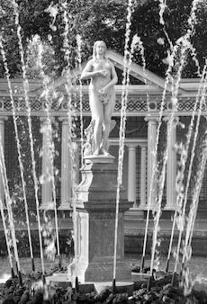 Peterhof sankt petersburg park niżny fontanna ewa kamienna rzeźba
