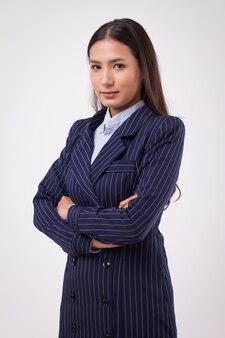 Pewna silna biznesowa kobieta odizolowana