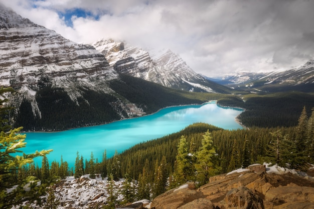 Peyto lake, park narodowy banff, alberta, kanada