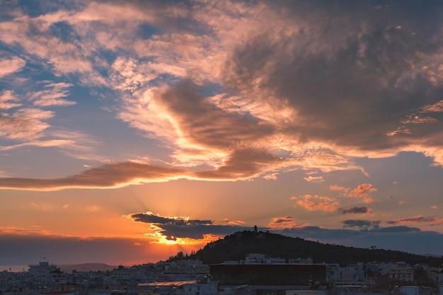 Philopappou i koukaki w atenach, grecja