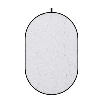 Photograpic srebrny dysk reflektor dyfuzor ekranu na białym tle. renderowanie 3d