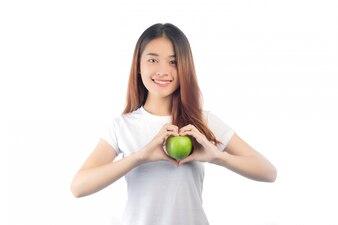 Piękna kobieta Asia z szczęśliwym uśmiechem