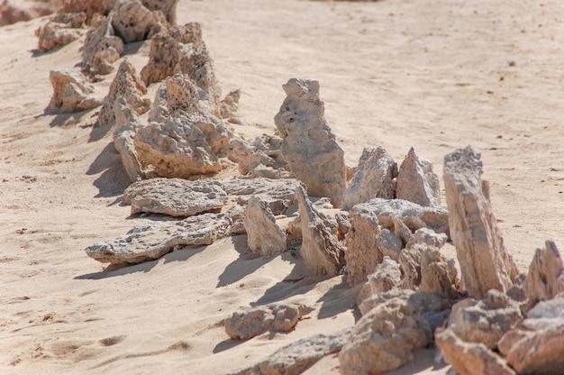 Piasek kamienie tekstura tło.