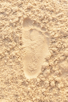 Piasek plaża ślad oceanu morze wybrzeże. zbliżenie obrazu.