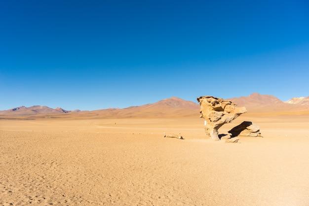 Piaszczysta pustynia na andach boliwii