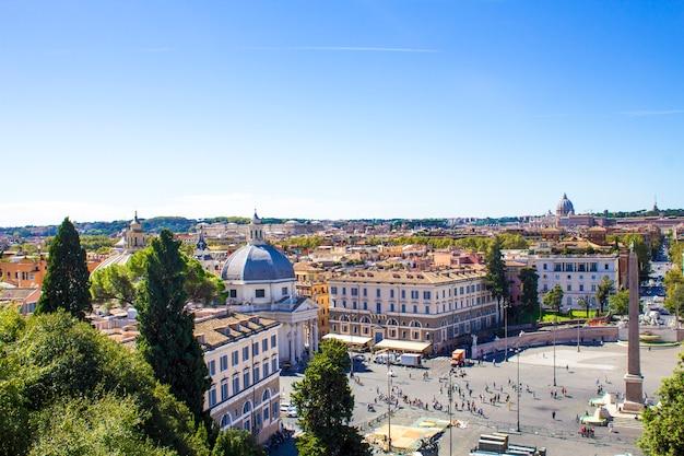 Piazza del popolo (widok ze wzgórza pincho)