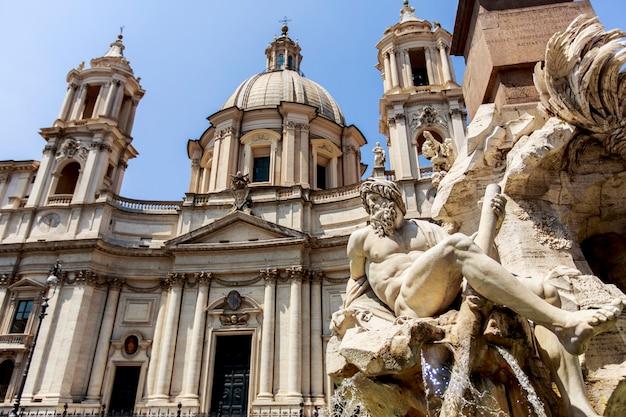 Piazza navona w rzymie, włochy