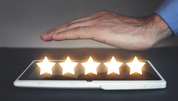 Pięć gwiazdek produkt klienta