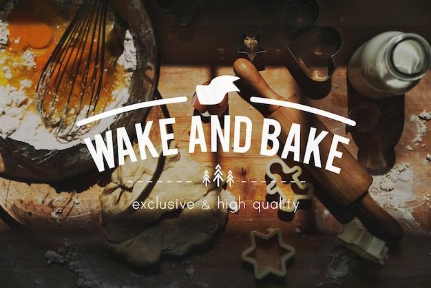 Piec piekarni pieczenia chleba śniadaniowego torta kulinarnego pojęcie