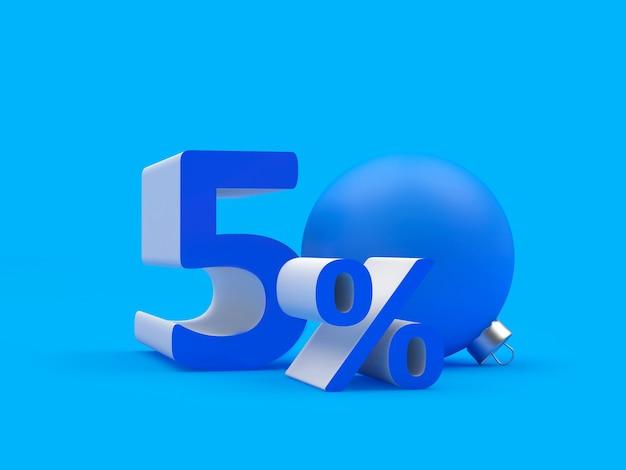 Pięćdziesiąt procent zniżki z bożonarodzeniową kulą