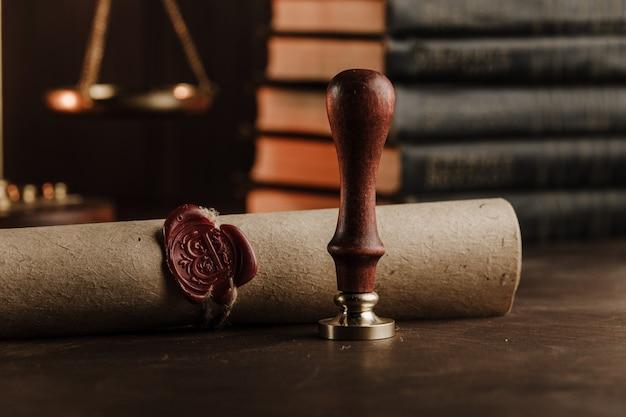 Pieczęć i dokument notariusza