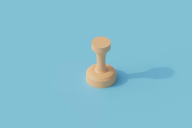 Pieczęć pojedynczy izolowany obiekt. 3d render ilustracji izometryczny