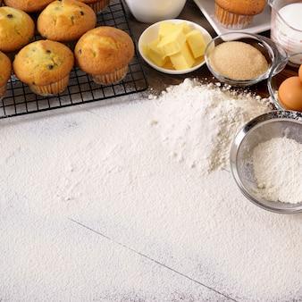 Pieczenia tło ze składników