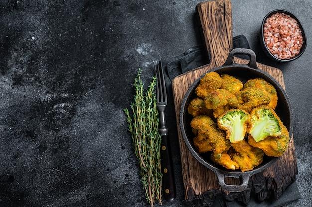 Pieczone brokuły panierowane na patelni
